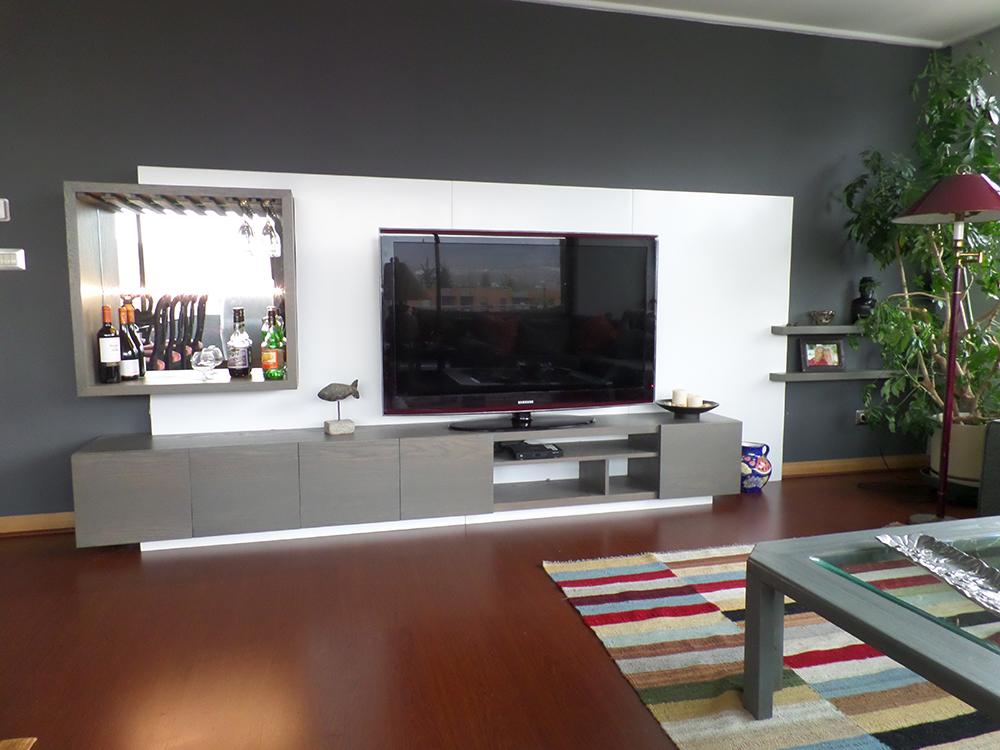 Mueble bar televisi n ferrari muebles y espacios - Mueble bar para salon ...
